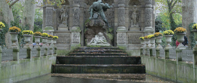 luxembourg gardens Footage