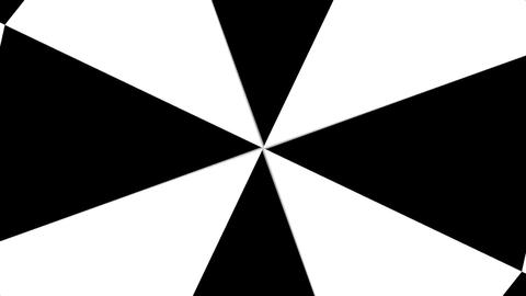 Hypnotic Rhythmic Movement Black And White triangles. Seamless loop Animation