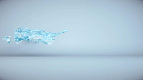 CG animation Water flow. 3d render Animation