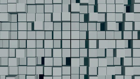 abstract background with surface cubes. Seamless loop Animation