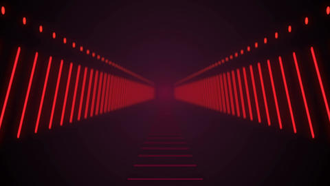 Abstract background with technology tunnel. Seamless loop Animación