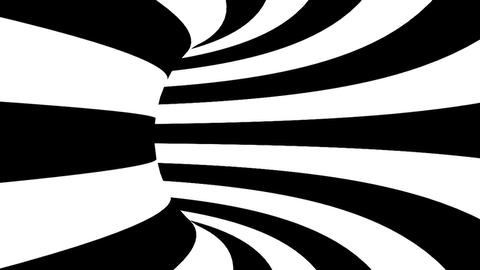 Black and white hypnotic tunnel. Seamless loop Animation