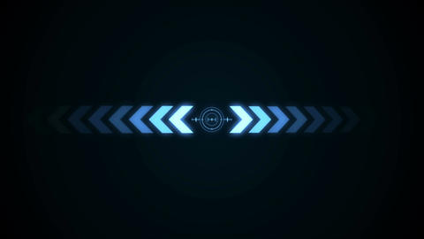 Futuristic background with crosshair and abstract arrows. Seamless loop Animation