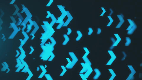 Abstract blue arrows background. Technology backdrop. Seamless loop CG動画素材