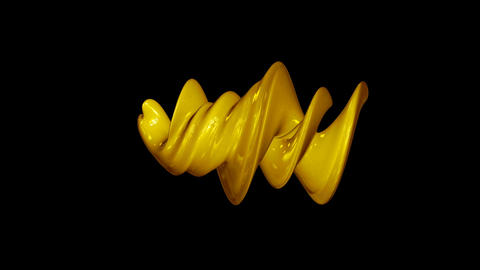 Abstract spiral three-dimensional element. Seamless loop Animation
