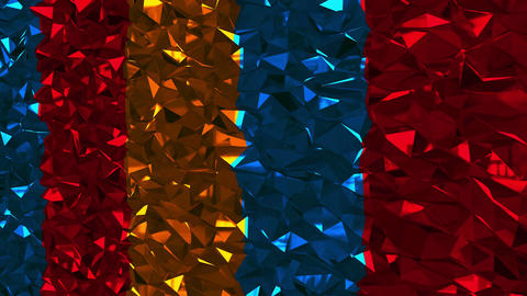 Abstract background with colorful lowpoly triangles. Seamless loop Animation