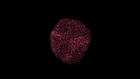 Abstract Motion Background with particles. Seamless loop Animation