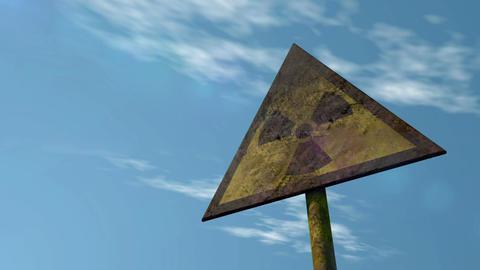 Old Radioactivity Sign   Looped Shot 画像