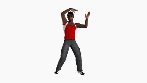 Guy african dancing hip hop,Animation, Alpha channel, 3d character CG動画素材
