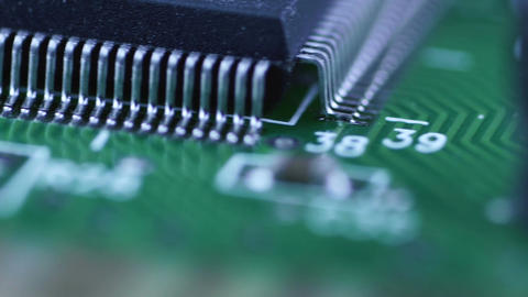 Electronic circuit chips Footage