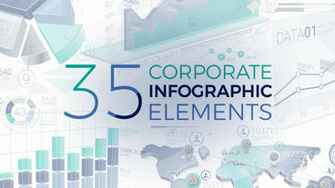 35 Corporate Infographic Elements After Effects Template