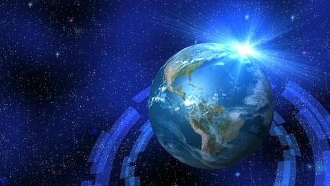 Earth light Animación