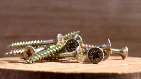 screws on rotating plate Footage