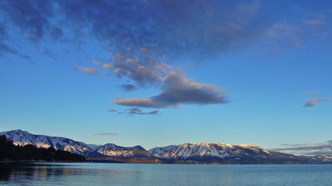 Tahoe lake, sunrise Footage