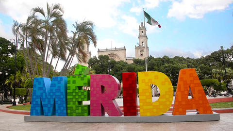 Downtown Merida, Mexico Footage