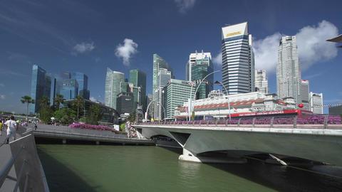 Time lapse of Singapore City Skyline view Footage