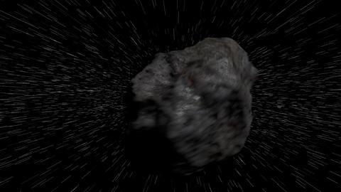 Meteorite Traveling in Speed in Outer Space ビデオ