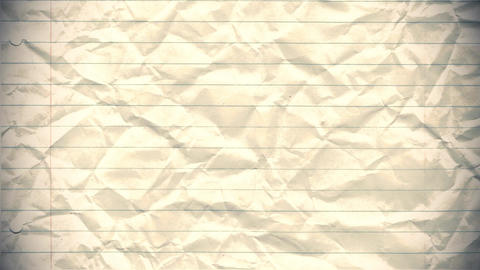Paper background stop motion animation crumpled lined school pad notes loop 4k Footage