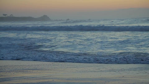 Large waves close-up near the Pacific coast Footage
