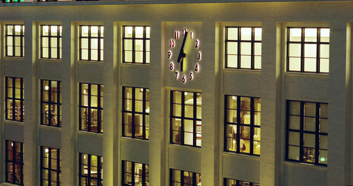 Clock On The Facade Of The Former Central Post Office Building stock footage
