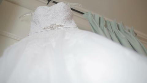 Wedding dress on hanger Footage