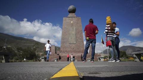 Timelapse Mitad Del Mundo Monument Footage