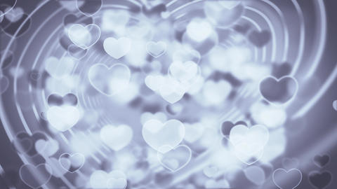 Flow heart shapes particles animation Animation