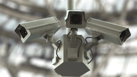 Security cameras in 4K Animation