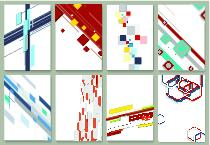 Abstract minimal geometric backgrounds set ベクター
