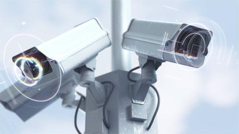 Futuristic security cameras in 4K Image