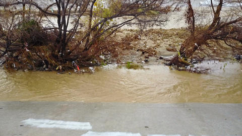 Flood Damage In Los Angeles River Image