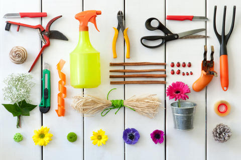 Gardening and florist tools Foto