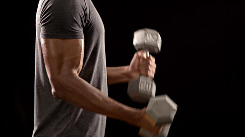 Athletic Man Lifting Weights Footage