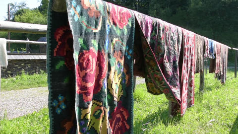 carpets to dry in the open air Archivo