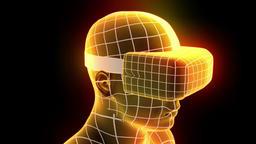 VR virtual reality headset hologram futuristic animation hmd game tech loop 4k ビデオ