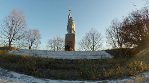 Soviet monument to the liberator in the Second World War in the outback of Ukrai Image