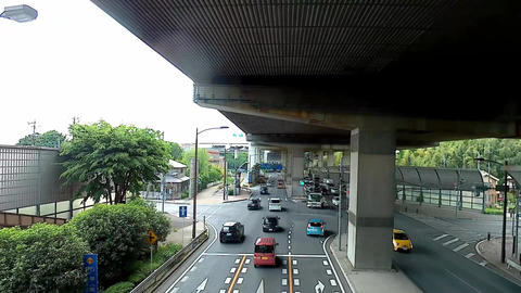 View from pedestrian overpass Footage