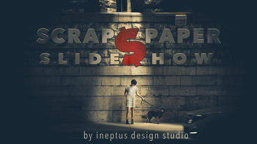 Scraps paper slideshow Plantilla de Apple Motion