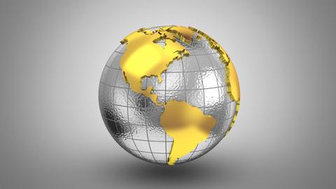 World Map Turns Into a Globe CG動画素材
