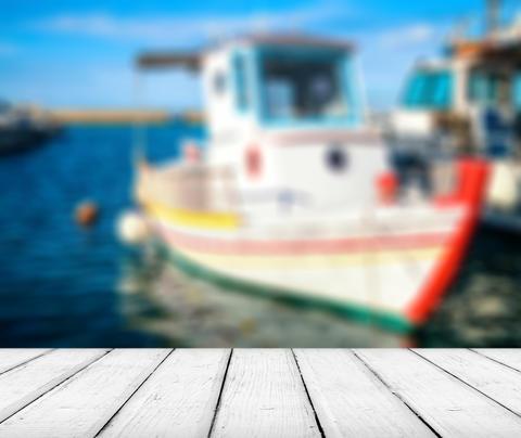 Harbor in Greece, Crete Photo