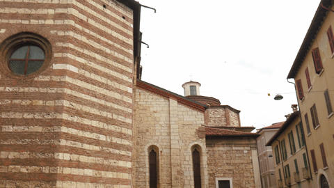 Church of San Francesco (Saint Francis) in Brescia Footage