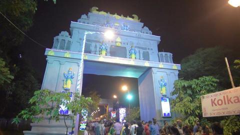 Devotees entering Kolkata Rath Yatra 2017 fair ground Footage