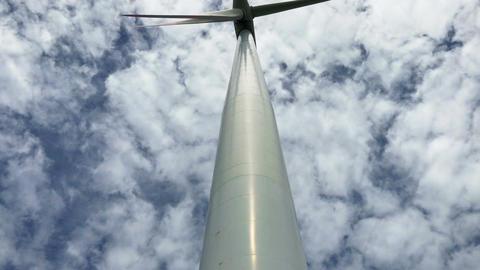 Wind generator - camera raising up Footage