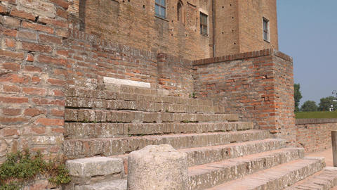 Towers and walls of Saint George castle in Mantua Footage