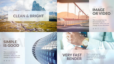Clean Promo Presentation After Effects Templates