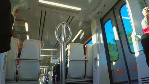 Inside Public Train Line Footage