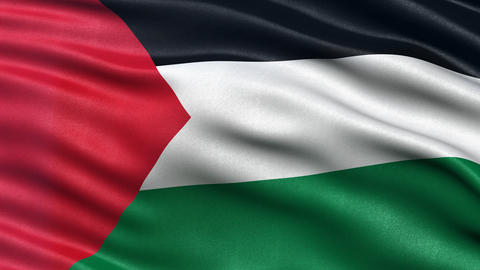 4K Palestine flag seamless loop Ultra-HD Animation