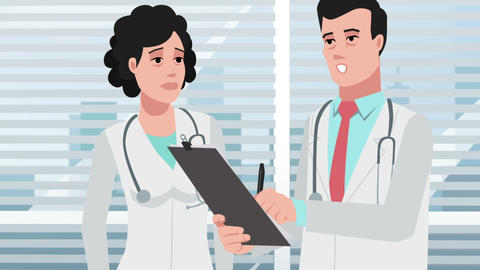Cartoon Corporate / Doctors And Medical Discussion Animation