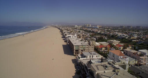 Aerial view of Venice Beach and Marina Del Rey - Los Angeles, California, USA Footage