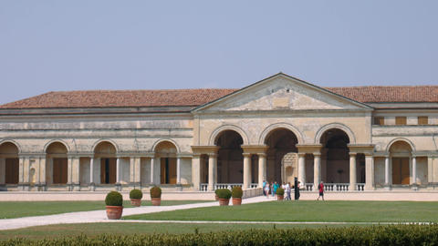 Visitors of Palazzo Te in the distance, Mantua Live Action